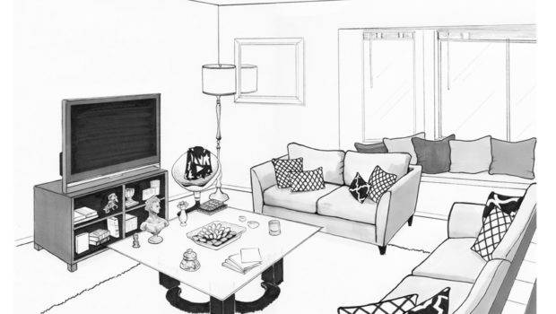 Living Room Drawing Becuo