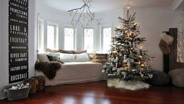Living Room Great Christmas Decorating Ideas