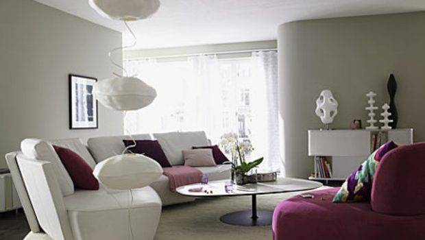 Living Room Grey Color Gray Purple Modern