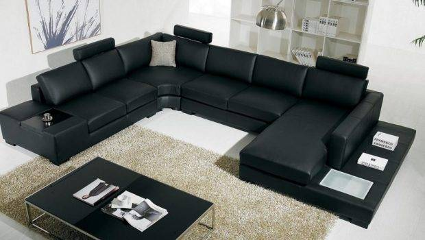 Living Room Italian Leather Sectional Sofa