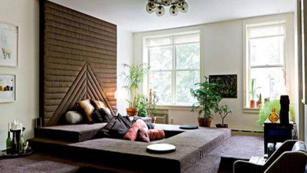 Living Room Lounge Decorating Ideas Feature Ivory Wall