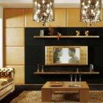 Living Room Media Wall Panel Lcd Display Home Theatre System