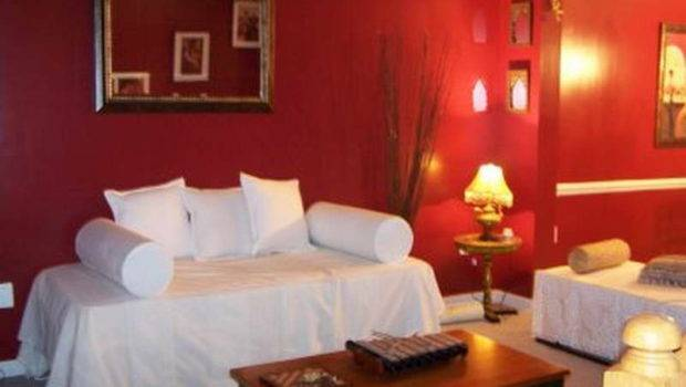 Living Room Painting Ideas Red Colour