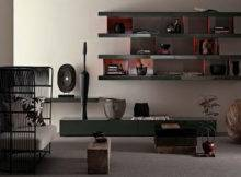 Living Room Shelf Wall System