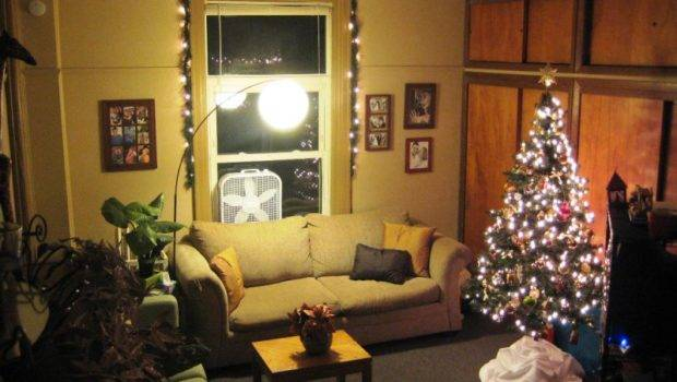 Living Room Simple Christmas Decorating Photos