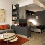 Living Room Sofa Wooden Coffee Table Modern Condo Small Spaces