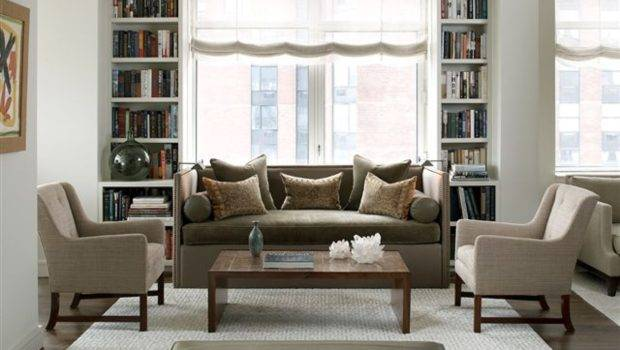 Living Room Traditional Transitional Style Decorating Book Cases