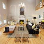 Living Room Walls High Ceiling Ideas Featuring White Wall Paint