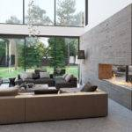 Living Rooms There Beautiful Stone Wall Includes Cutout