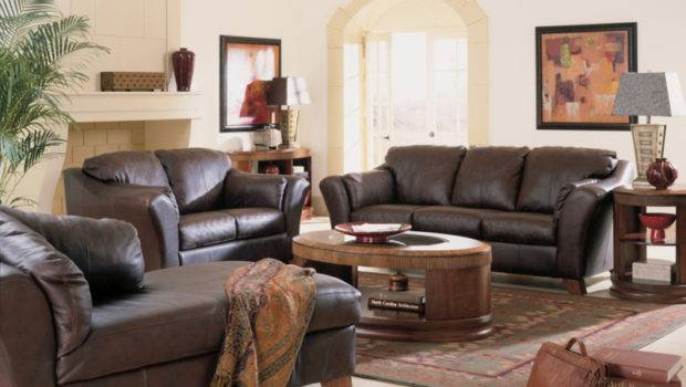 Living Space Ideas Small Room Brown Furniture
