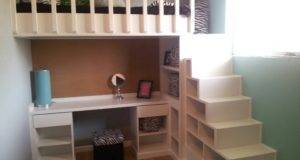 Loft Bed Desk Shelves Stairs Yes Money Great Pinte