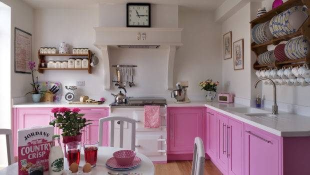 Looking Pink Kitchens Just Pretty Color