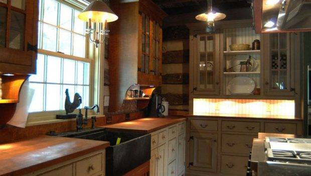 Louis Primitive Log Cabin Kitchen Dream Home Pinterest