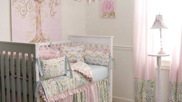 Love Birds Crib Bedding Baby Girl