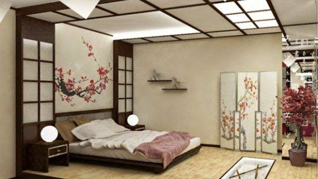 Lovely Japanese Style Bedroom Design Ideas Curtains