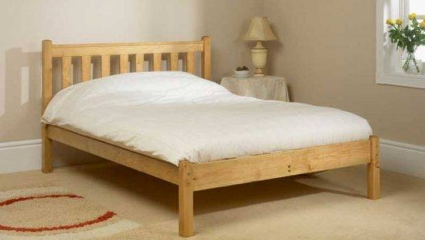 Low Foot End Small Double Pine Wooden Bed Frame Friendship Mill