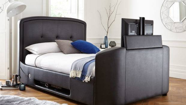 Luther Black Faux Leather Bed Frame Dreams