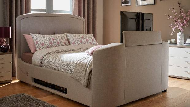 Luther Grey Fabric Upholstered Bed Frame