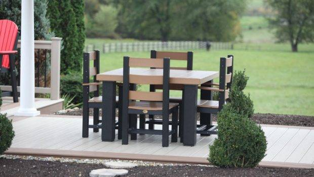 Luxcraft Poly Dining Contemporary Square Table Set