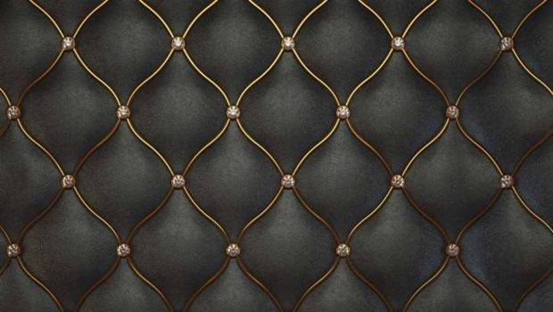 Luxurious Black Leather Pattern Textured Walls