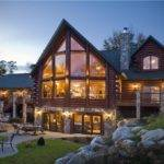Luxury Architecture Design Log Home Made Stone Wood