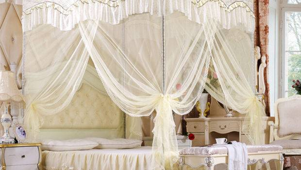 Luxury Bed Canopy Netting Curtain Mosquito Double