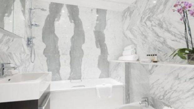 Luxury Black Grey Silver White Marble Bathroom