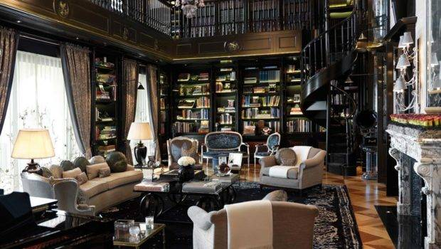 Luxury Home Library Stunning