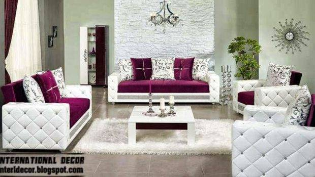 Luxury Purple Furniture Sets Sofas Chairs Living Room Interior