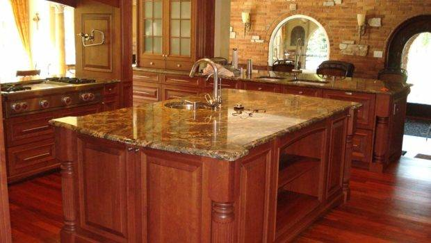 Luxury Wooden Kitchen Granite Countertops Interior Design Ideas