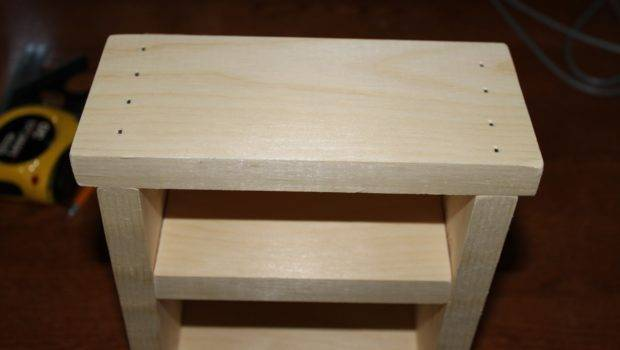 Made Pieces Reese Doll Nightstand Small Bookshelf