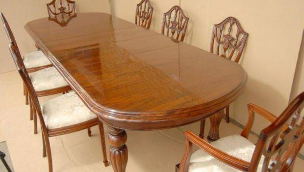 Mahogany Dining Table Chairs Victorian Style
