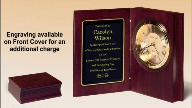 Mahogany Finish Book Clock Clocks Recommended Gifts
