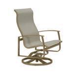 Mainsail Sling Aluminum Swivel Action Lounge Chair