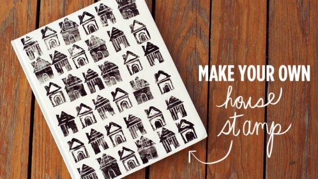 Make Your Own House Stamp Beautiful Mess