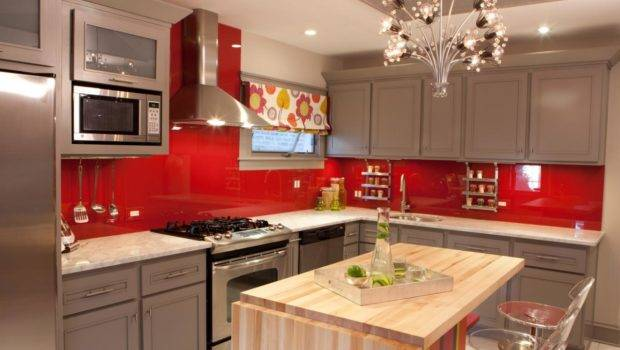 Makeover Red Gray Kitchen Cabinets Wall Paint