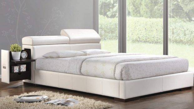 Manjot Contemporary White Queen Bed Eastern King
