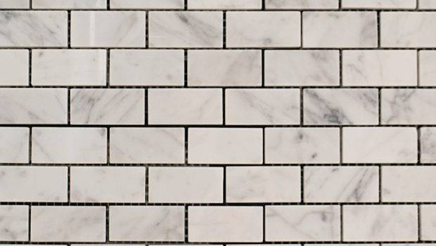 Marble Bianco Carrara Brick Pattern Tile Solutions Stone