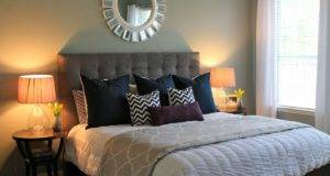 Master Bedroom Tufted Headboard