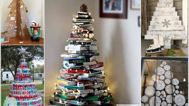 Materials Can Making Alternative Christmas Tree
