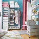 Maximize Storage Space Small Bedroom Pink Curtain Standing