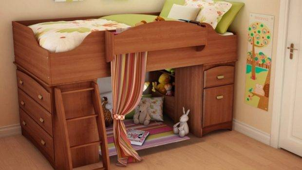 Maximize Storage Space Small Bedroom Wooden Bed