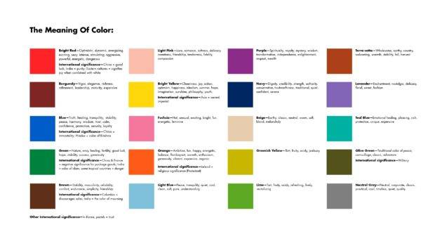 Meaning Color Chart Misspowerpoint