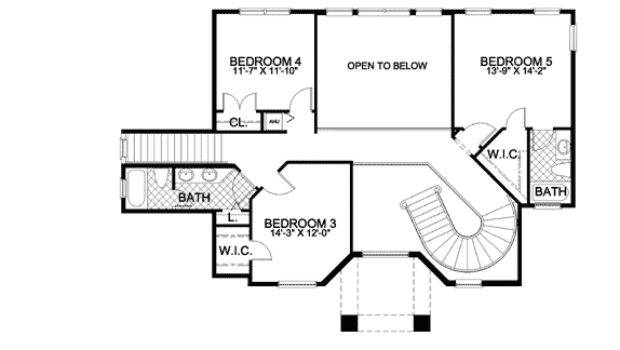 Mediterranean House Plan Two Stairs