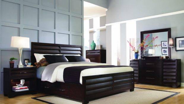 Mens Bedroom Ideas Scenery Painting Frame Black Wall Tall