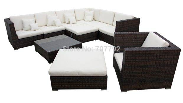 Miami Wicker Balcony Furniture Vip Comfortable Sofa Set