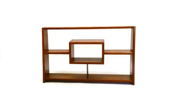 Mid Century Modern Shelf Unit Dove Tail Joint Detailmid