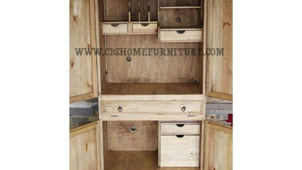 Million Dollar Rustic Home Office Computer Desk Armoire