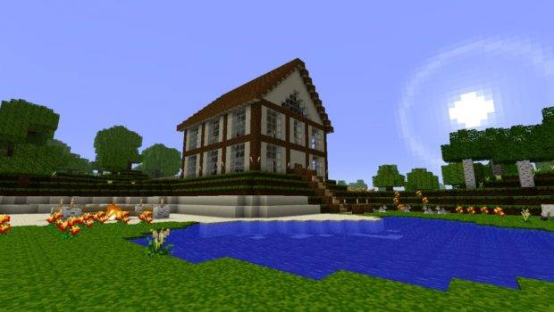 Minecraft Best House Medium Spawn Ever