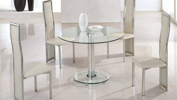Mini Round Glass Dining Table Chairs Tables